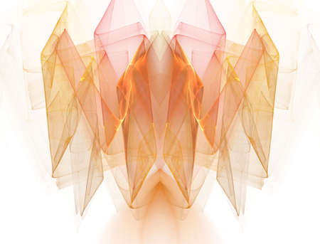 sheer: Beautiful sheer, pastel and golden fractal with sheer, smooth texture.