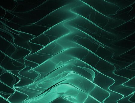 sheer: Beautiful, sheer, emerald green ripples stand out against a black backdrop in this fractal abstract. Stock Photo