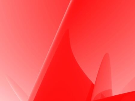 Smooth hues of reds take on abstract shapes and forms in this modern, contemporary 3d abstract. Stock Photo