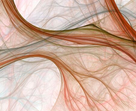 blending: Beautiful, sheer design with softly colored threads flowing and blending. Stock Photo