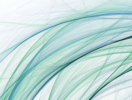 blend: Threads of blue and green flow and blend in this fractal abstract design.