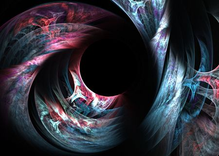 Colorful and unique, computer generated, fractal abstract background. photo