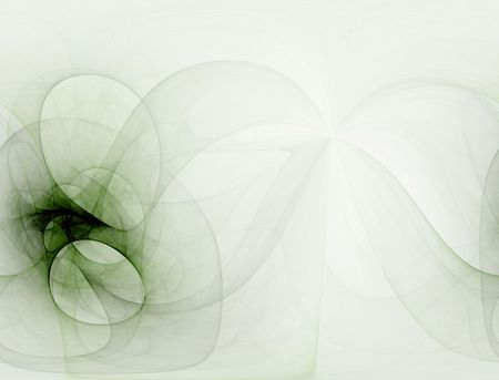 sheer: Sheer green, computer generated, fractal abstract background.
