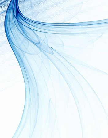 Blue and sheer, computer generated, fractal abstract background. Stock Photo