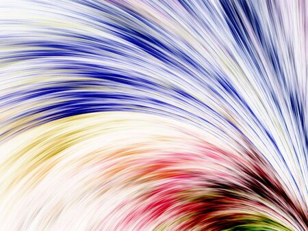 Curving colorful streaks, computer generated, fractal abstract background. Stock Photo - 1063731
