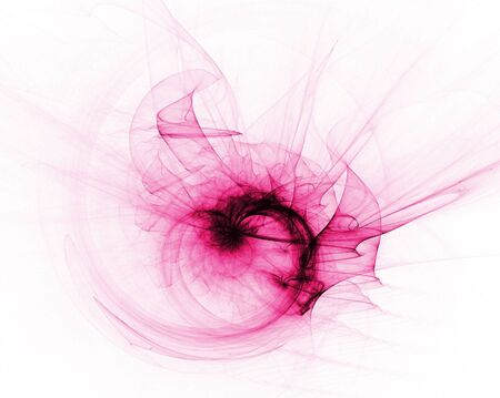 Pink sheer heart shape, computer generated, fractal abstract background. Reklamní fotografie
