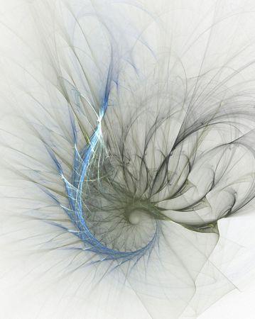 teardrop: Wispy teardrop, computer generated, fractal abstract background.
