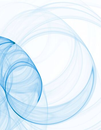 Bright blue swirl with blur, computer generated, fractal abstract background.