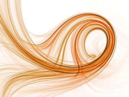 Swirling golden brown hues of color, computer generated, fractal abstract background. Stock Photo