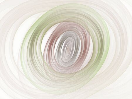 Circular and oval layers of soft color (computer generated, fractal abstract background)