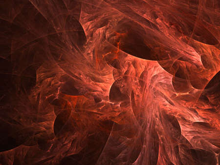 dense: Dense red layered texture (computer generated, fractal abstract background)