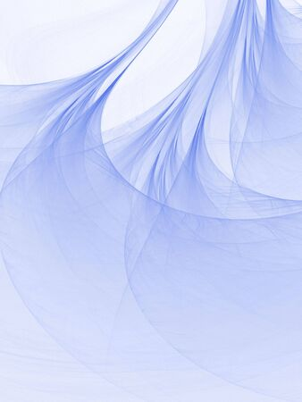 Blue flowing silk texture (computer generated, fractal abstract background)