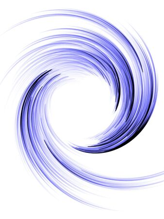 Spinning, curling blue wave effect (computer generated, fractal abstract background) 免版税图像