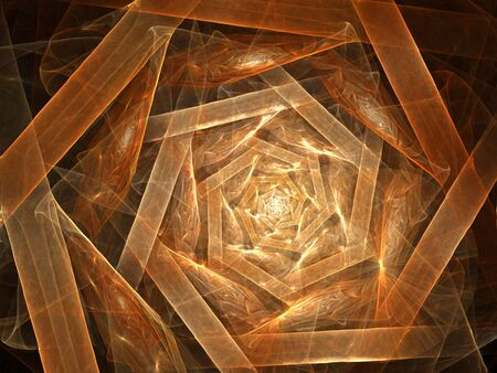 Shades of brown layers take shape and glow (computer generated, fractal abstract background)