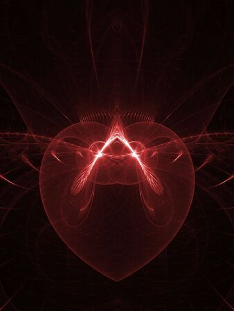 Faint red heart design(computer generated, fractal abstract background) photo