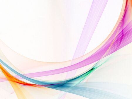 Light strands of bright colors (computer generated, fractal abstract background) 免版税图像