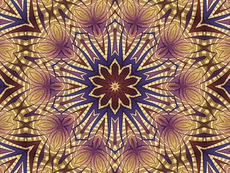 Layered, kaleidoscopic star design (computer generated, fractal abstract background) photo