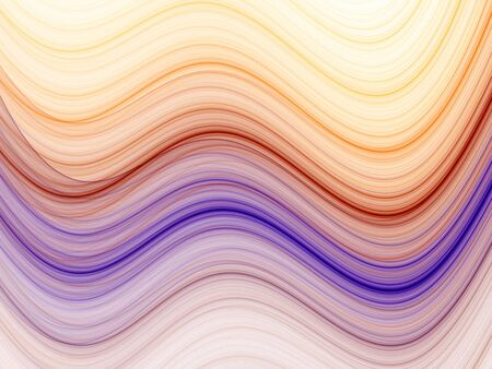 Multicolor wave pattern (computer generated, fractal abstract background) Stock Photo - 1255031