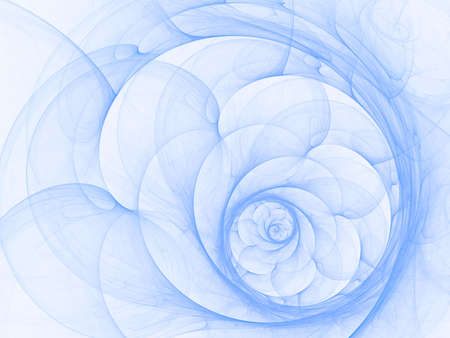 isolation backdrop: Layered petal spiral (computer generated, fractal abstract background)
