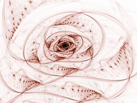 Spiral tangled in movement (computer generated, fractal abstract background) Reklamní fotografie