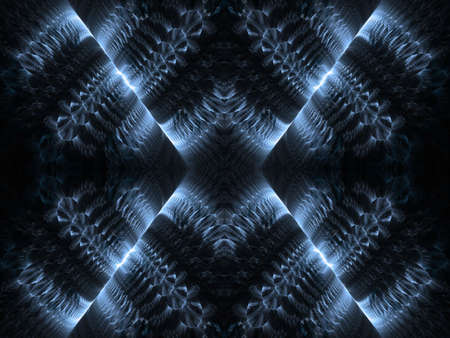 splitting: Gray blue textures with splitting illusion (computer generated, fractal abstract background)  Stock Photo