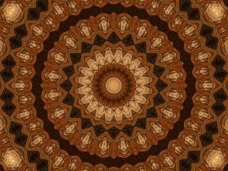 kaleidoscopic: Layered textures and colors in a kaleidoscopic effect (computer generated, fractal abstract background)