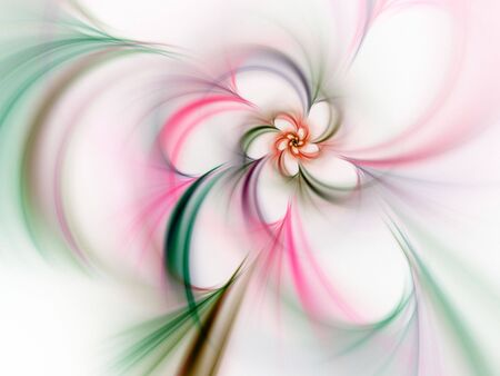 Soft wispy flowing design (computer generated, fractal abstract background)