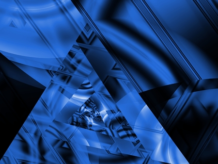 Shades of blue with triangular, geometric illusion (computer generated, fractal abstract background) Stock Photo - 1470205