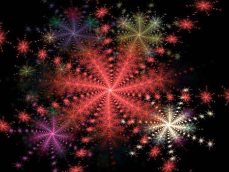 Multicoloré spirale floral effet (générés par ordinateur, fractal abstract background) Banque d'images - 1567102