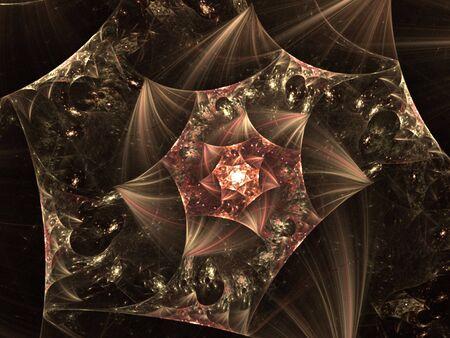 wispy: Cream tones, textured wispy spiral (computer generated, fractal abstract background)