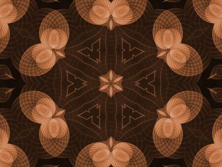 Blends of browns, kaleidoscopic illusion (computer generated, fractal abstract background) photo