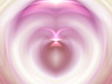 Sheer pink and red with subtle heart illusion (computer generated, fractal abstract background) photo