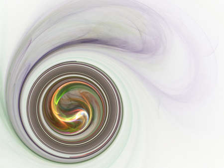 isolation backdrop: Circular swirl with wispy effect (computer generated, fractal abstract background)