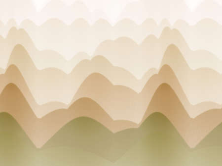 Haze effect, wavy hill illusion (computer generated, fractal abstract background)