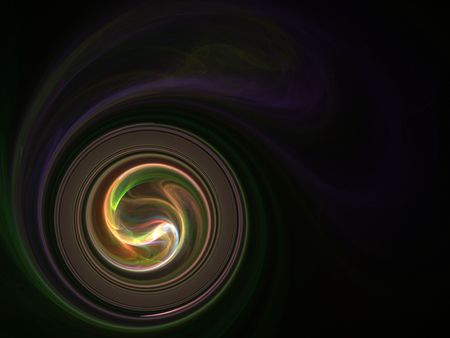 Circular swirl with wispy effect (computer generated, fractal abstract background)