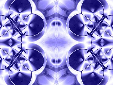 blue metallic background: Metallic theme, blue kaleidoscopic effect (computer generated, fractal abstract background)