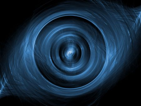 spin: Layered hues of blue in spin (computer generated, fractal abstract background) Stock Photo