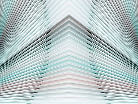 angular: Angular apex accentuated with spikes fanning (computer generated, fractal abstract background)