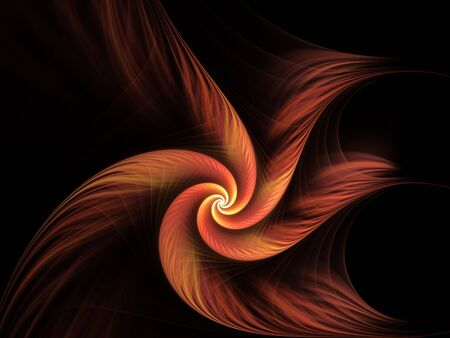 hues: Wispy hues of red in spiral illusion (computer generated, fractal abstract background) Stock Photo