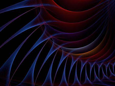 Minces fils de simple avec la texture des couches opaques (générés par ordinateur, fractal abstract background) Banque d'images - 1843497