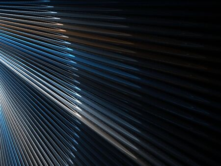 Layers of shaded, fanning spikes (computer generated, fractal abstract background) photo