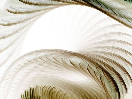 ridge: Feathery textured curves and arches (computer generated, fractal abstract background) Stock Photo