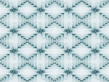 Shaded tile illusion, geometric effect  (computer generated, fractal abstract background)
