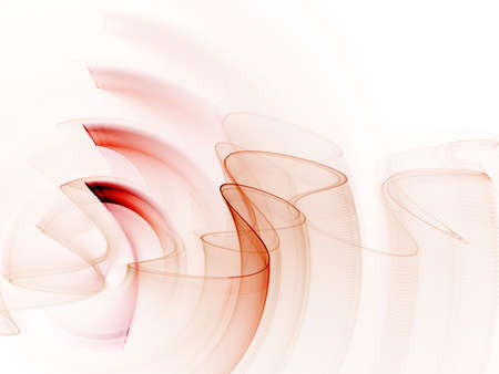 Red curling and rippling textures (computer generated, fractal abstract background) Stock Photo - 1978944