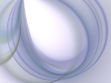 Curving design, soft wispy blues (computer generated, fractal abstract background) Stock Photo - 1978935