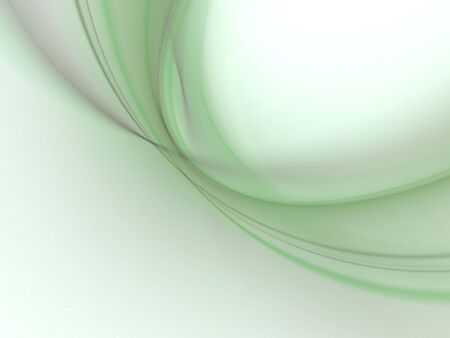 Shaded green, layered curves (computer generated, fractal abstract background) Stock Photo - 1978961