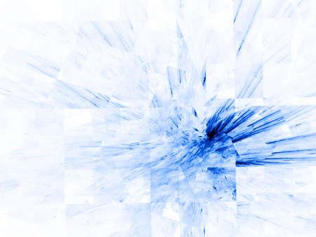 Shattered blue textures design (computer generated, fractal abstract background) Reklamní fotografie