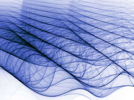 mesh: Rippling shaded blue textures (computer generated, fractal abstract background)