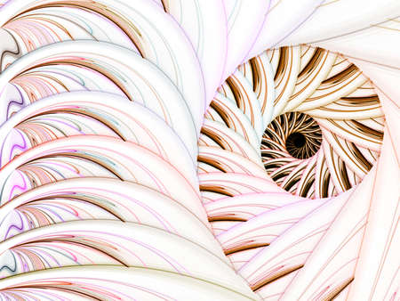 threaded: Curving threaded spiral (computer generated, fractal abstract background)