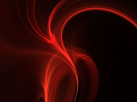 swerve: Curving layers of red (computer generated, fractal abstract background)